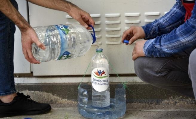 Gümüşhane'de sokak hayvanları susuz kalmayacak