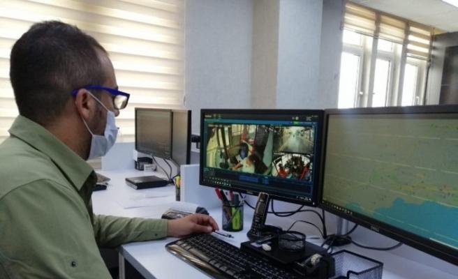 Kocaeli'de toplu taşımadaki maske kullanımı kameralarla kontrol ediliyor