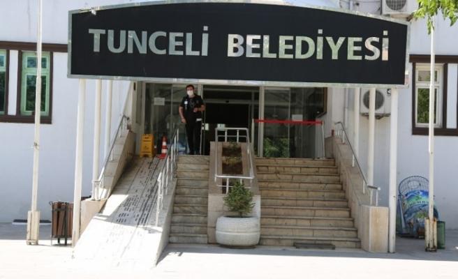 Tunceli Belediyesi'nde korona tedbirleri