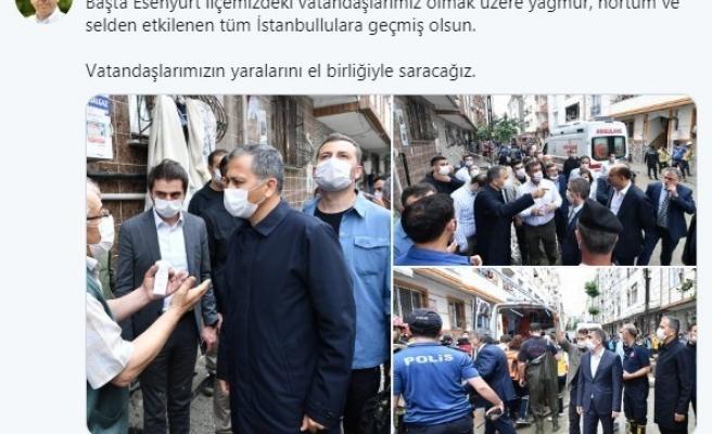 """Vali Yerlikaya'dan selden etkilenen vatandaşlara """"geçmiş olsun"""" mesajı"""