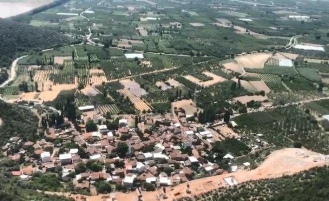 3 saatlik sel ve dolunun zararı 227 milyon lira oldu
