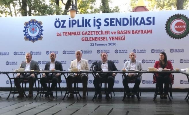 Ankara'da geleneksel Öz İplik İş 24 Temmuz Gazeteciler ve Basın Bayramı yemeği