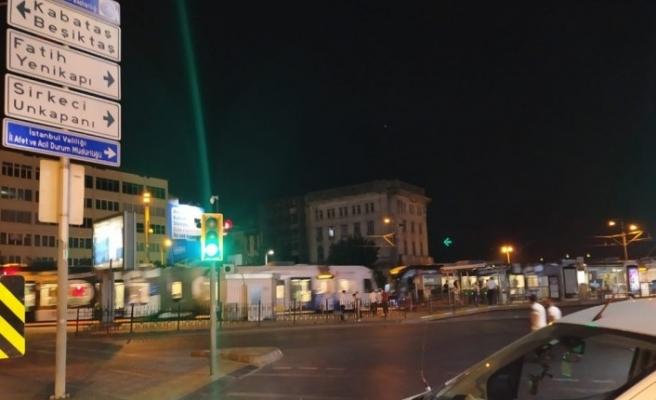 Ayasofya Camii'nin açılışı öncesi Galata Köprüsü trafiğe kapandı