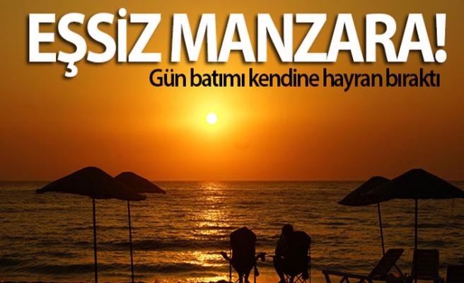 Aydın'da muhteşem gün batımı