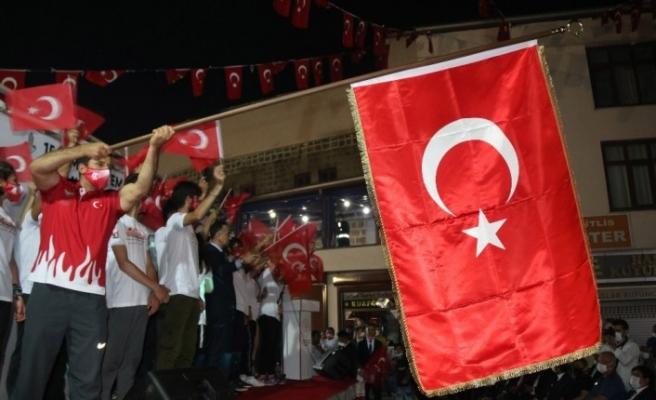 Bitlis'te 15 Temmuz Demokrasi ve Milli Birlik Günü programı