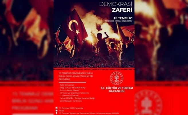 Demokrasi kahramanları türkülerle anılacak