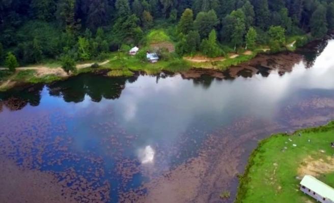 Doğa harikası Keremali Göl Yaylası havadan görüntülendi