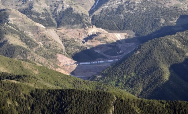 Gümüşhane'de çevreyi kirleten maden firmasına 404 bin lira para cezası