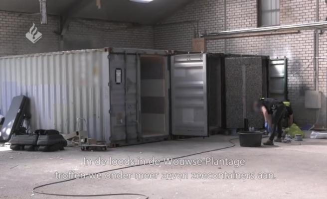 Hollanda'da konteynerler içinde işkence odaları bulundu