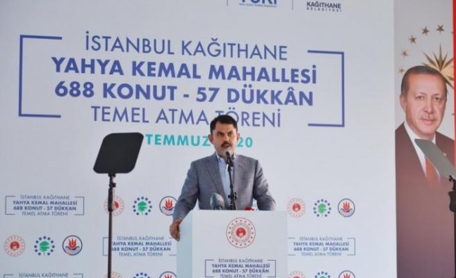 Kağıthane Yahya Kemal Mahallesi'nde 688 konut ve 57 dükkanın temel atma töreni gerçekleştirildi