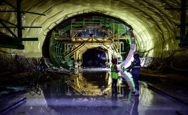 ( ÖZEL) İstanbul Havalimanı Metro Hattı'nın yüzde 71'i tamamlandı