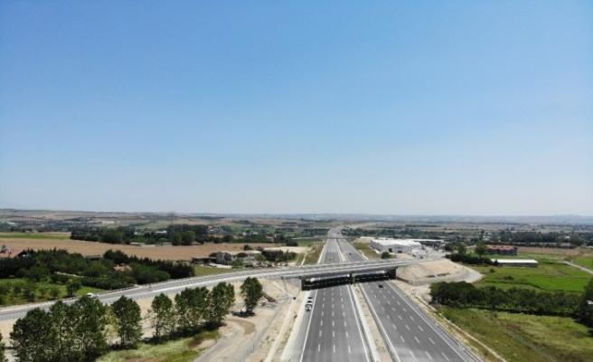 (ÖZEL)Kuzey Marmara Otoyolu'nda son 112 kilometre