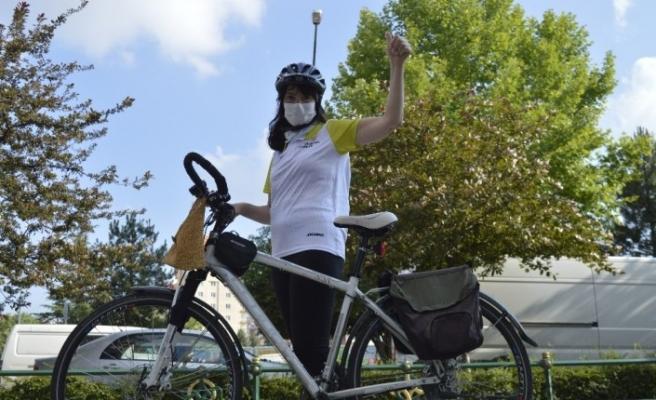 (Özel) Virüsten korumak için arabadan in, bisiklete bin