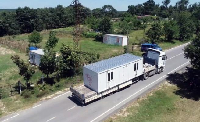 Silivri'de kaçak konteyner operasyonu