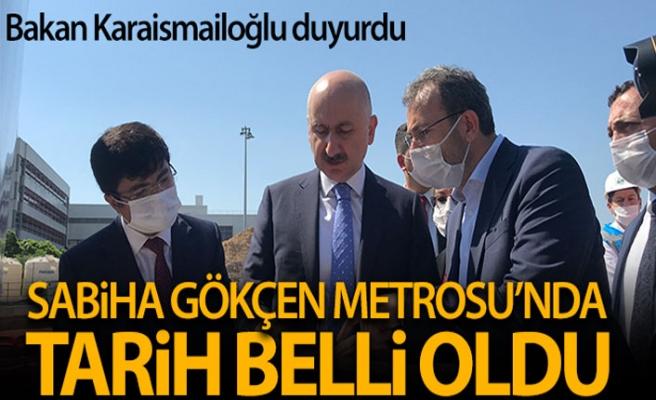 Ulaştırma Bakanı Karaismailoğlu, Sabiha Gökçen metro inşaatında incelemelerde bulundu