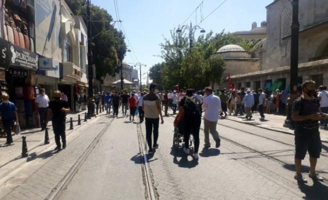 Vatandaşlar akın akın Ayasoyfa Camii'ne gidiyor