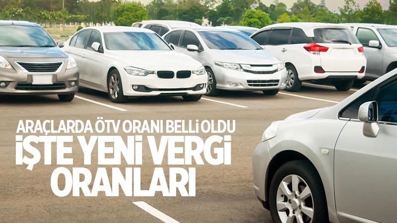 Araçlarda ÖTV oranı belli oldu: İşte yeni vergi oranları!