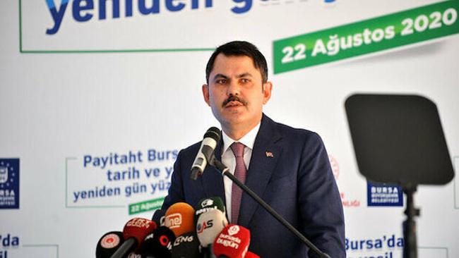 Bakan Kurum: Türkiye'nin en büyük kentsel dönüşüm projelerinden birini Bursa'da başlatacağız