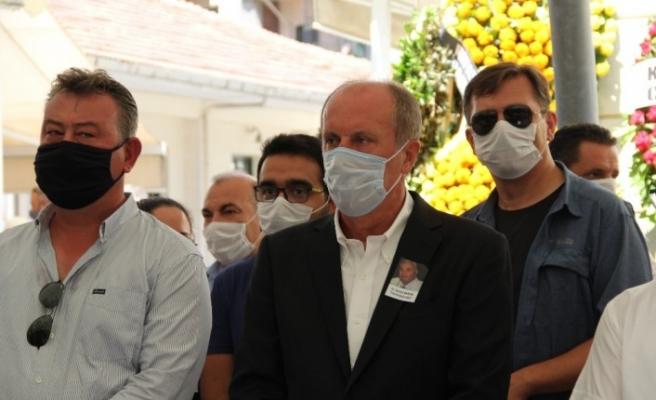 CHP'li Akman'ın cenazesine katılan Muharrem İnce'den açıklamalar