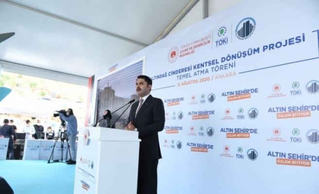Cinderesi Kentsel Dönüşüm Projesi kapsamında 451 konutun temeli atıldı