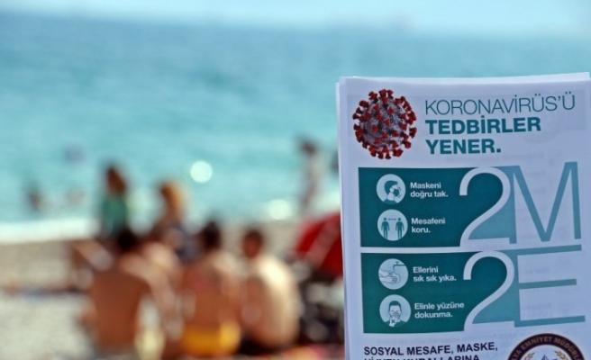 Dünyaca ünlü sahilde '2M-2E' başlıklı korona virüs uyarısı