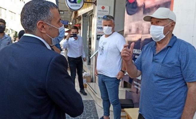 Düzce'de maske denetimine çıkan Vali Atay vatandaşları uyardı