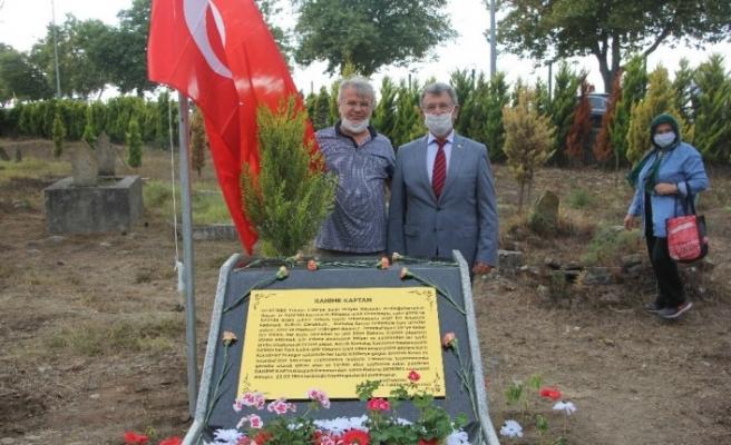 Kurtuluş Savaşı kahramanı Rahime Kaptan'ın kabrine anıt mezar yapıldı