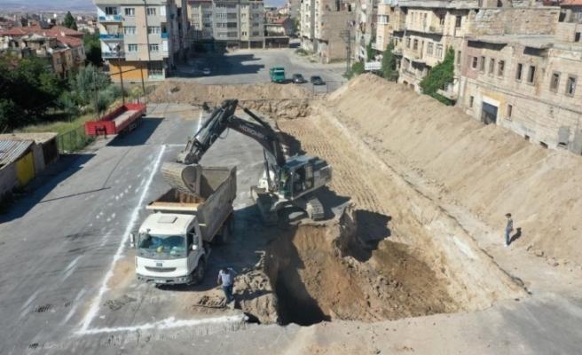 Nevşehir'de kentsel dönüşüm projesi için ilk kazma vuruldu