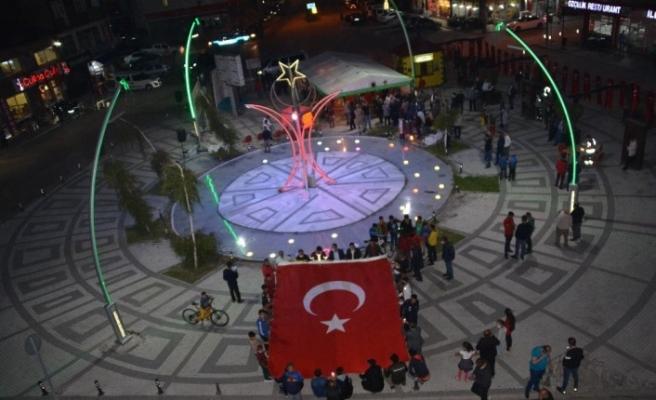 """Şehitler diyarı Sarıkamış'ta """"Milli Birlik'' yürüyüşü"""