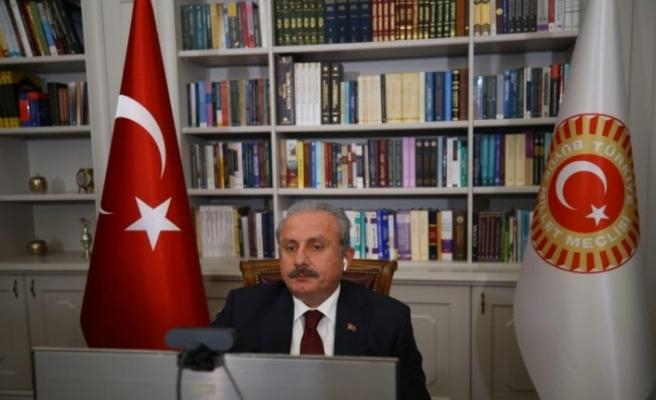 """TBMM Başkanı Şentop: """"Savaşlar, dış müdahaleler ve iç karışıklıklar nedeniyle insanlar vatanını terk ediyor"""""""