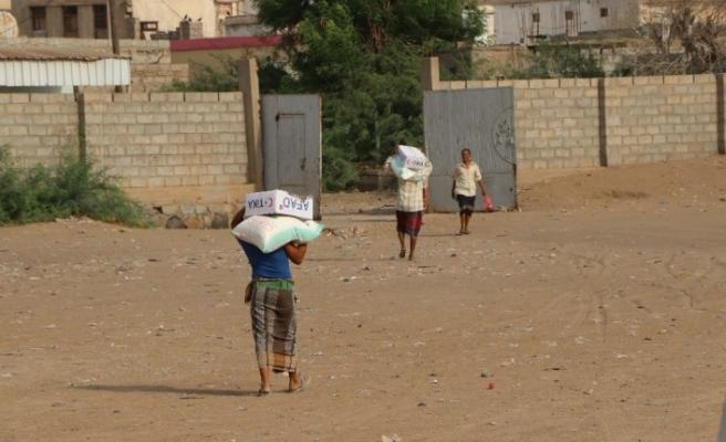 TİKA'dan Yemen'e Kurban Bayramı öncesi gıda yardımı