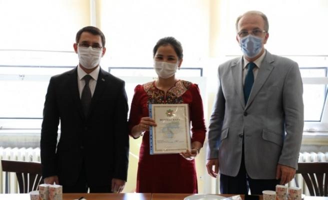 Türkmenistan Ankara Büyükelçisi, Bartın'da öğrencilerle buluştu