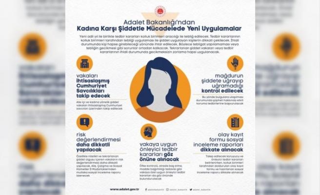 Adalet Bakanlığı kadına yönelik şiddetle mücadelede yeni uygulamaları hayata geçiriyor