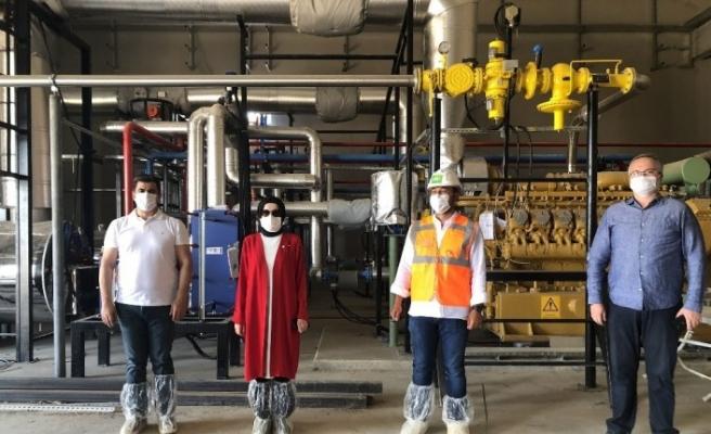 Akyurt Biogaz tesisinde elektrik üretimi başladı