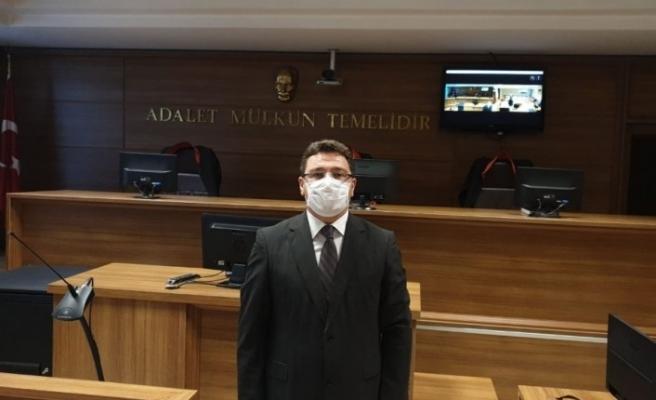 """Ankara Batı Adliyesi Başsavcı Vekili Karakülah: """"Vatandaşlarımızdan adliyelere gelirken mutlaka maskelerini takmalarını rica ediyoruz"""""""