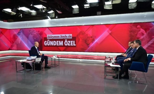 """Bakan Soylu, """"Benden sonraki bilsinler ki bu adam Tayyip Erdoğan'la çalıştı bitirdi defteri kapattı"""""""