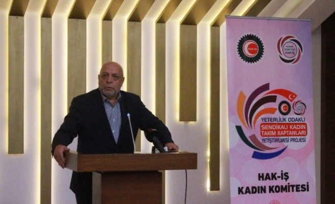 Başkan Arslan, Sendikalı Kadın Takım Kaptanları Projesi Konya Eğitimi'ne katıldı