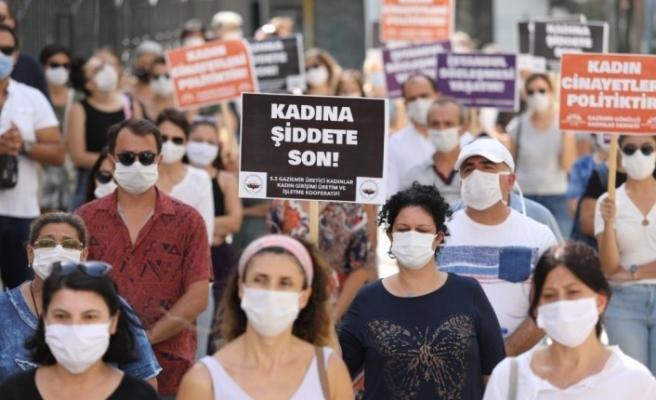 Boşanması aşamasındaki eşin katliamının ardından kadınlardan alkışlı protesto