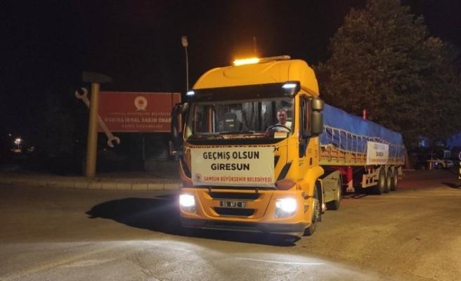 Büyükşehir Samsun ve Giresun'da yaraları sarıyor