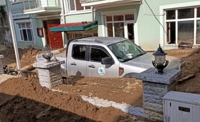 Giresun'da geçtiğimiz hafta sonu yaşanan selde Dereli'nin ardından en fazla hasarı gören Doğankent'te yaralar sarılıyor