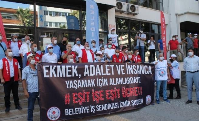 İzmir Büyükşehire grev kararını astılar
