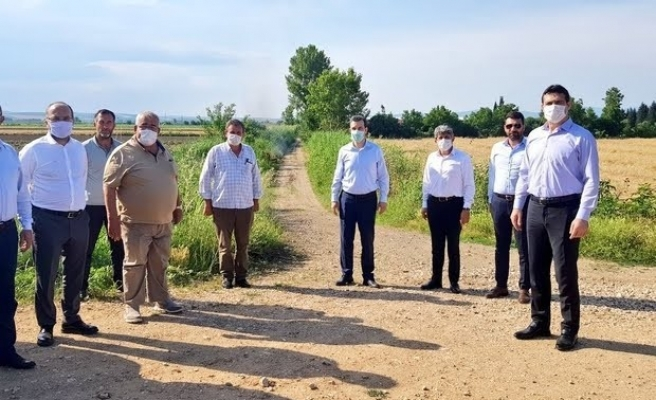 Karacabey Ovahamidiye-Okçugöl yolu tam gaz ilerliyor