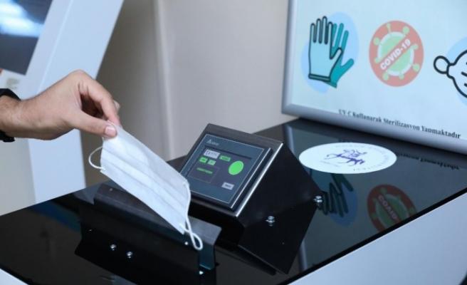 Kullanılmış maske ve eldivenlerin bulaşma risk etkisini sıfırlayacak sterilizasyon cihazı