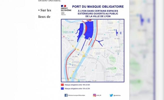 Lyon'da maske zorunluluğu uygulanan mahalle sayısı arttırıldı