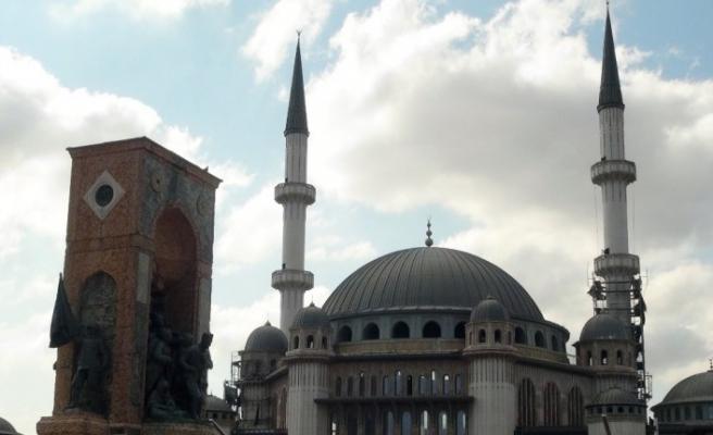 (Özel) Taksim Camii'nin son hali havadan görüntülendi