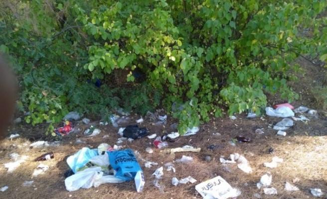 Piknik alanı çöplüğe döndü