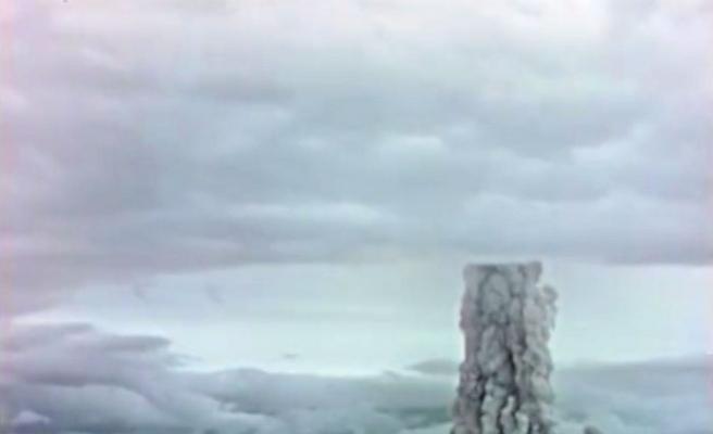 Rusya, 1961'de atılan nükleer bombanın görüntülerini yayınladı