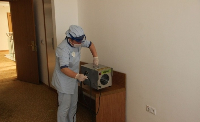 Termal tesiste Korona virüse karşı ozonla mücadele başlattılar