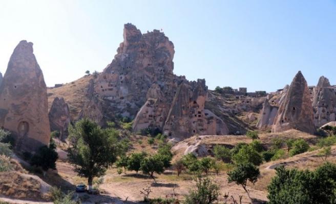 Uçhisar Kalesi'ni 8 ayda 65 bin 900 turist ziyaret etti