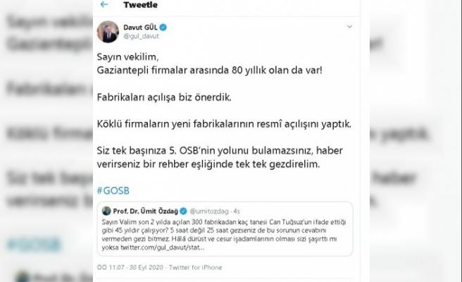 300 fabrika polemiğine Vali Gül'den imalı cevap